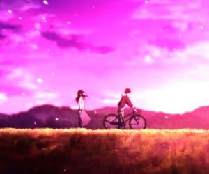 couple, gif, and anime couple image