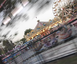aesthetics, blurred, and ferris wheel image