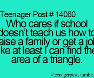 family, school, and teenager image