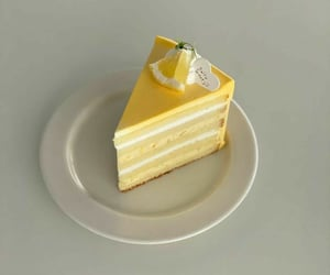 cake, delicious, and lemon image