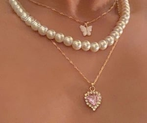 necklace, fashion, and butterfly image