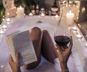 beauty, book, and candle image