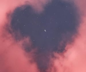 wallpaper, sky, and heart image