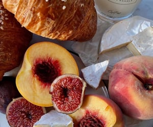 cheese, fruit, and croissant image