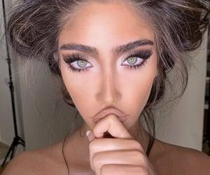 beauty, model, and eyeshadow image