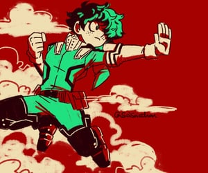 anime, my hero academia, and izuku midoriya image
