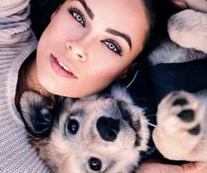 animals, dogs, and girls image