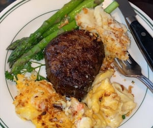 asparagus, dinner, and food image