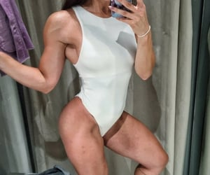 body, lingerie, and muscles image