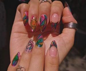 nails, acrylic, and fashion image