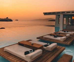 Greece, ocean, and pool image