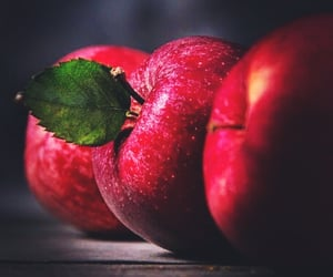 food, red apple, and apples image