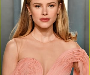 premiere, pink dress, and lucy fry image
