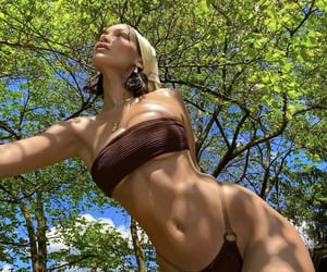 bikini, skinny, and celebrities image