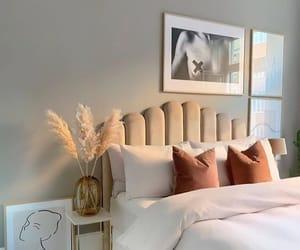 bedroom, beige, and room image