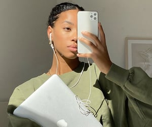 apple, girl, and inspo image