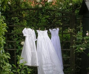 dress, green, and white image