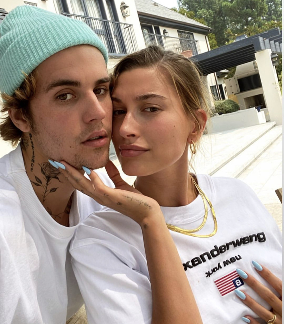 couple, justin bieber, and hailey bieber image