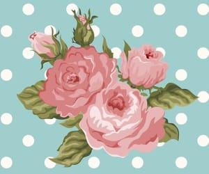 flores, puntos, and rosas image