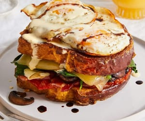 breakfast, egg, and french toast image