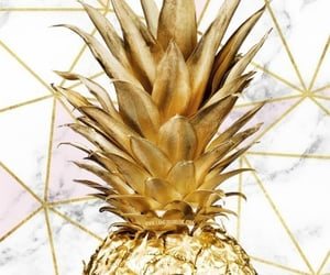 ananas, gold, and wallpaper image