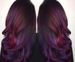 hairstyle, long hair, and ombre image