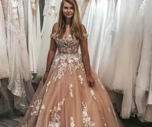 dress, wedding dress, and bride dress image