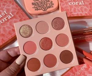 coral, eye makeup, and eyeshadow image
