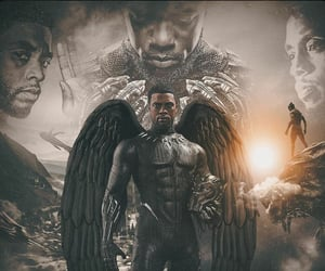 black panther, chadwick boseman, and rest easy image