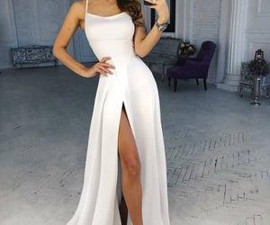 dress, robe, and Blanc image