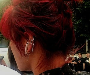 accessories, pony tail, and red hair image