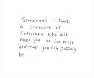 love, quote, and soulmate image