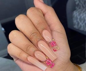 acrylic, long nails, and nail art image