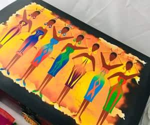 african art, artwork, and chakra symbols image