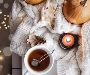 autumn, tea, and candle image