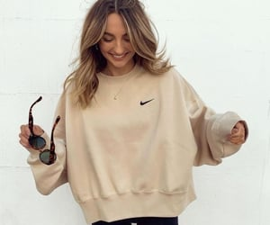beige, nike, and outfit image