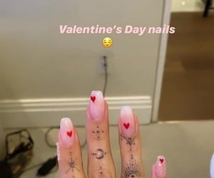 rings, finger tattoo, and valentine's nail art image