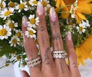 nail art, finger tattoo, and nails image