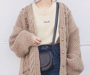 cardigan, fashion, and outfit image