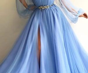 dress, blue, and blue prom dress image