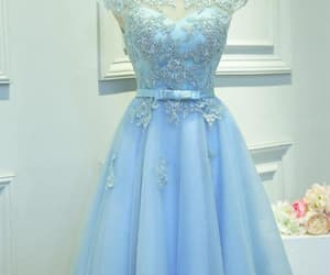 prom dress, blue prom dresses, and homecoming dresses image