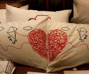 love, cute, and pillow image