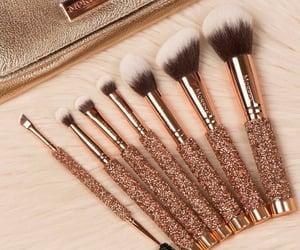 Brushes, glitter, and lovely image