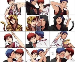 anime, kuroko, and aomine image