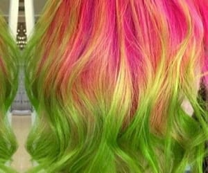 colorful, hair, and neon image