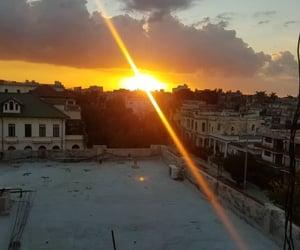 cuba, la habana, and sunset image