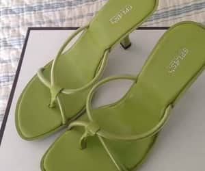 green, sandals, and spring image