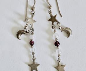 etsy, dangle earrings, and drop earrings image