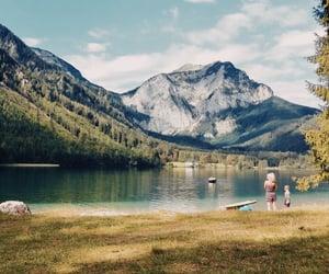 austria, lake, and mountains image