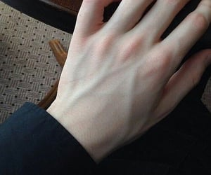hand, boy, and pale image